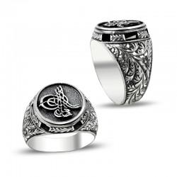 Anı Yüzük - Erzurum El İşçiliği Tuğralı Gümüş Yüzük