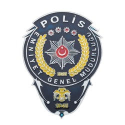 Emniyet Genel Müdürlüğü Polis Cüzdan Rozeti - Thumbnail