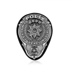 Gümüş Renk EGM Polis Kemer Rozeti