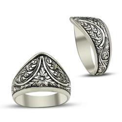Anı Yüzük - Erzurum El İşi Gümüş Baş Parmak Yüzüğü