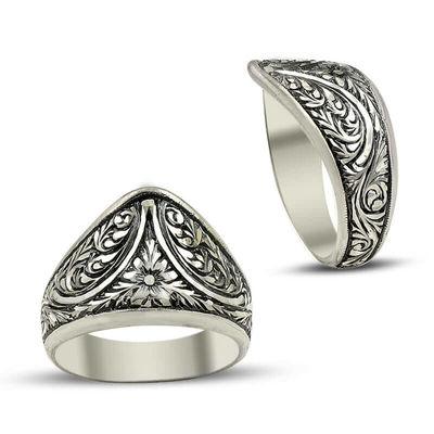 Erzurum El İşi Gümüş Baş Parmak Yüzüğü