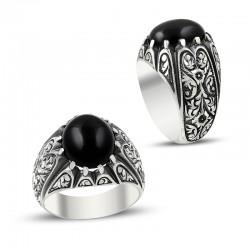 Anı Yüzük - Erzurum El İşi Oniks Taşlı Gümüş Yüzük