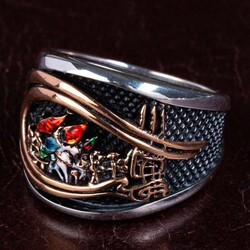 Anı Yüzük - Fatih Sultan Mehmet Tuğrası Gümüş Fetih Yüzüğü