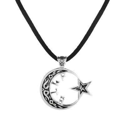 Ay Yıldızlı Göktürk Gümüş Kolye
