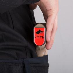 Göktürkçe Türk ve Kurtlu Şarjör Stickerı - Thumbnail