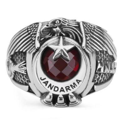 Tek Kartal Başlı Göktürkçe Türk Yazılı Jandarma Yüzüğü