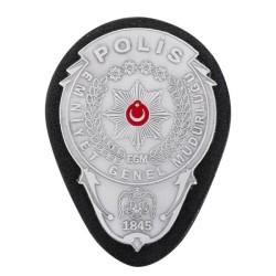 Gümüş Renk Polis Kemer Rozeti - Thumbnail