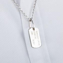 Gümüş Asker Künyesi - Thumbnail