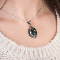 Gümüş Bayan Çerkes Kolye - Thumbnail