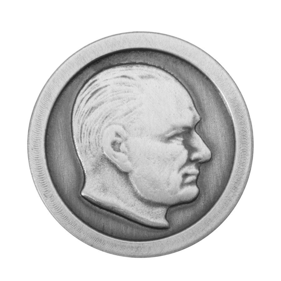 Gümüş çerçeveli Atatürk Yaka Rozeti