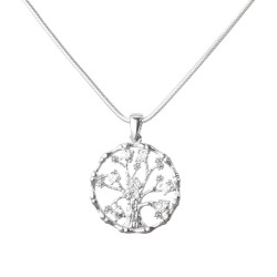 Gümüş Hayat Ağacı Kolye - Thumbnail