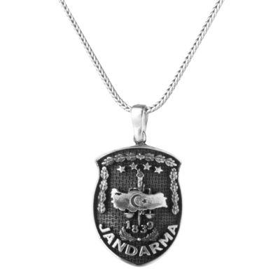 Gümüş Jandarma Kolyesi