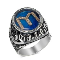 Anı Yüzük - Gümüş Kayı Motifli Vatan Yüzüğü