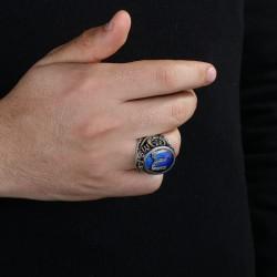 Gümüş Kayı Motifli Vatan Yüzüğü - Thumbnail