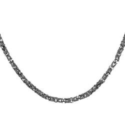 Anı Yüzük - 925 Ayar Gümüş Lale Kral Model Erkek Zinciri
