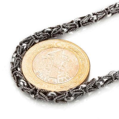 925 Ayar Gümüş Lale Kral Model Erkek Zinciri