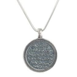 Nazar Dualı Bayan Gümüş Kolye - Thumbnail
