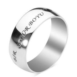 Gümüş Parmak İzi Alyans Kolye - Thumbnail
