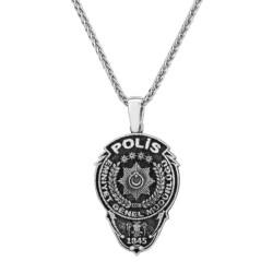 Anı Yüzük - Gümüş Polis Erkek Kolye