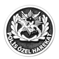 Anı Yüzük - Gümüş Polis Özel Harekat Yaka Rozeti