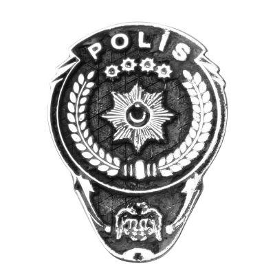 Gümüş Polis Yaka Rozeti