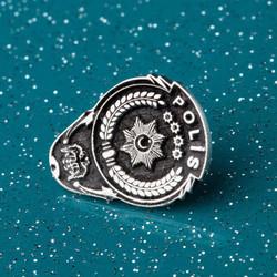 Gümüş Polis Yaka Rozeti - Thumbnail
