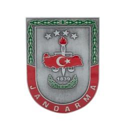Anı Yüzük - Gri Renk Jandarma 1839 Cüzdan Rozeti