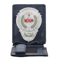 Anı Yüzük - Jandarma Genel Komutanlığı Rozetli Para Tokalı Kartlık Cüzdan Kamuflaj Lacivert