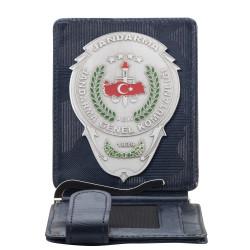 Jandarma Genel Komutanlığı Rozetli Para Tokalı Kartlık Cüzdan Kamuflaj Lacivert
