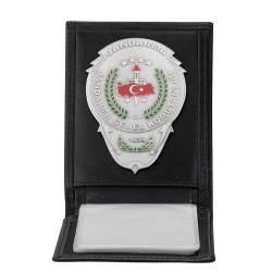 Anı Yüzük - Jandarma Genel Komutanlığı Rozetli Yatay Kartlık Cüzdan Siyah
