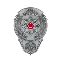 Gümüş Renk Özel Güvenlik Cüzdan Rozeti - Thumbnail