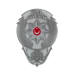 Gümüş Renk Özel Güvenlik Kemer Rozeti - Thumbnail
