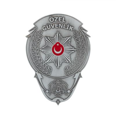 Gümüş Renk Özel Güvenlik Kemer Rozeti