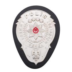 EGM Gümüş Renk Polis Kemer Rozeti - Thumbnail