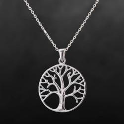 Gümüş Taşsız Hayat Ağacı Kolyesi