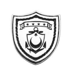 Anı Yüzük - Gümüş Türk Deniz Kuvvetleri Yaka Rozeti