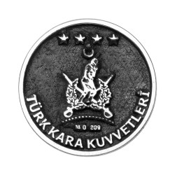 Anı Yüzük - Gümüş Türk Kara Kuvvetleri Yaka Rozeti