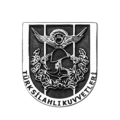 Gümüş Türk Silahlı Kuvvetleri Yaka Rozeti