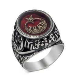 Gümüş Türk Yazılı Vatan Yüzüğü