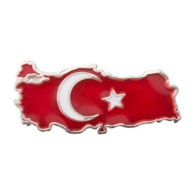 Gümüş Türkiye Haritalı Yaka Rozeti