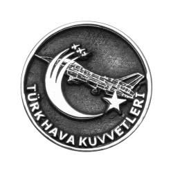 Anı Yüzük - Gümüş Uçak Motifli Türk Hava Kuvvetleri Yaka Rozeti
