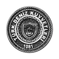 Anı Yüzük - Gümüş Yuvarlak Türk Deniz Kuvvetleri Yaka Rozeti