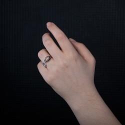 Gümüş Zirkon Taşlı Sonsuzluk Model Yüzük - Thumbnail