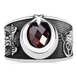 Hakimiyetin Gücü Gümüş Türk Yüzüğü - Thumbnail