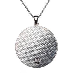 İsimli Ay Yıldız Bozkurt 925 Ayar Gümüş Erkek Kolye İnce Zincirli - Thumbnail