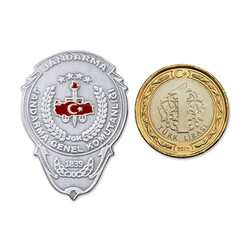 Jandarma Genel Komutanlığı Mini Cüzdan Rozeti - Thumbnail