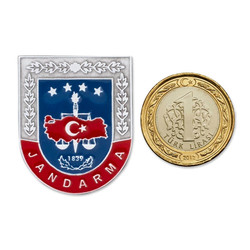 Jandarma Mini Cüzdan Rozeti - Thumbnail