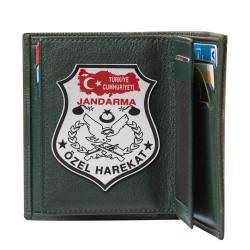 Türkiye Haritalı JÖH Rozetli Klasik Cüzdan Kamuflaj Desen - Thumbnail