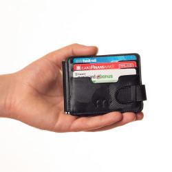 Küçük Boy Jandarma Rozetli Para Tokalı Kartlık Cüzdan Kamuflaj Siyah - Thumbnail