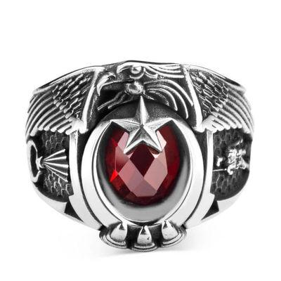 Jandarma Şualı Asker Figürlü Devre Yüzüğü